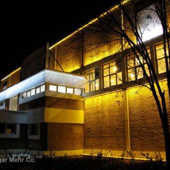 نورپردازی نمای بیرونی ساختمان