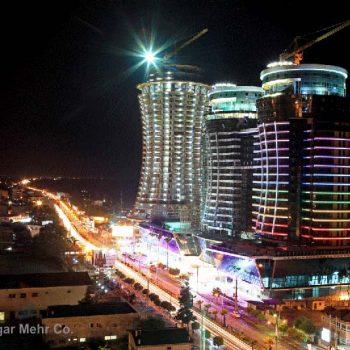 نورپردازی برجهای مسکونی پروژه قو
