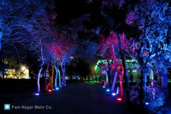 نورپردازی پارک شریعتی تهران