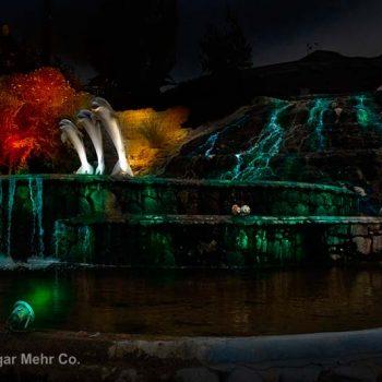 نور پردازی پارک آبشار کیش