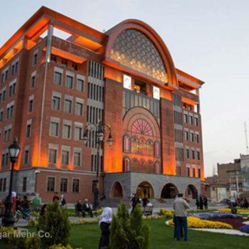 نورپردازی ساختمان شهرداری تبریز (ابوریحان)