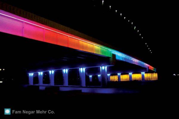 Lighting Of Tehran Tousi Bridge