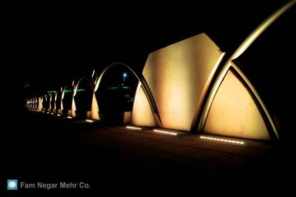 Lighting Of Velayat Park Wall